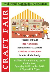 Wall Heath Community Association Craft Fayre