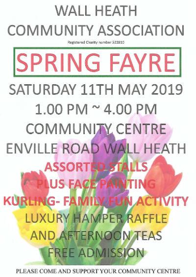 WHCA 2019 Spring Fayre Poster thumbnail