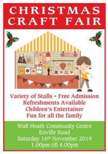 Wall Heath Community Association Christmas Craft Fayre Poster
